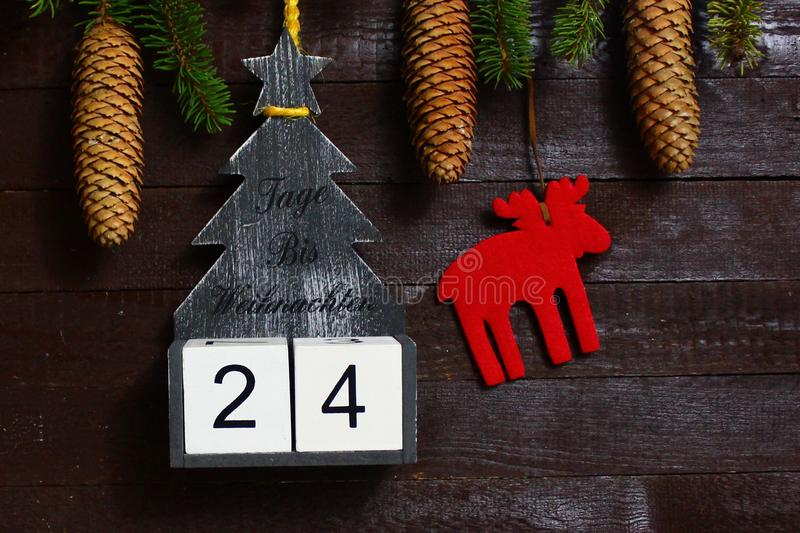 The countdown until christmas stock image