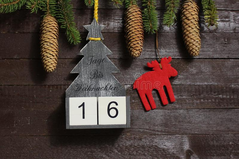 The countdown until christmas stock photos