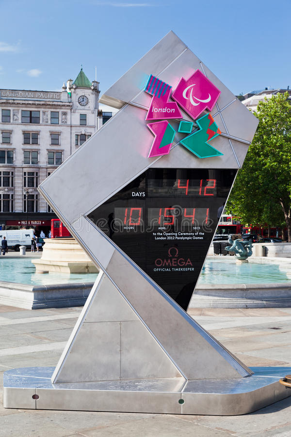 Countdown Clock Olympic Games London 2012 Editorial Photography