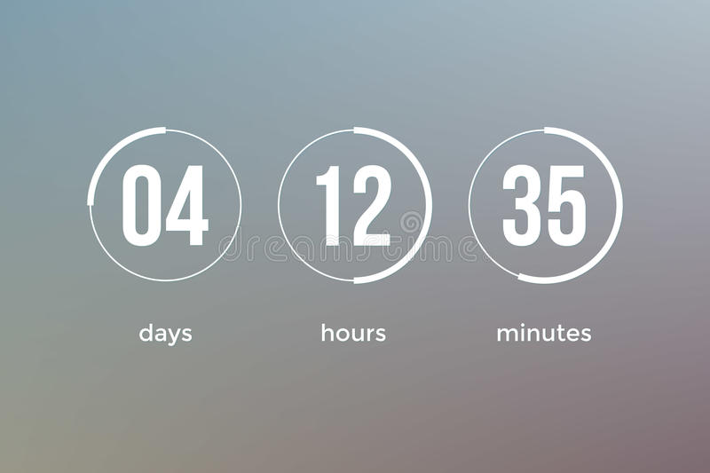 Countdown clock timer web site template vector design - How to make a countdown your wallpaper ...