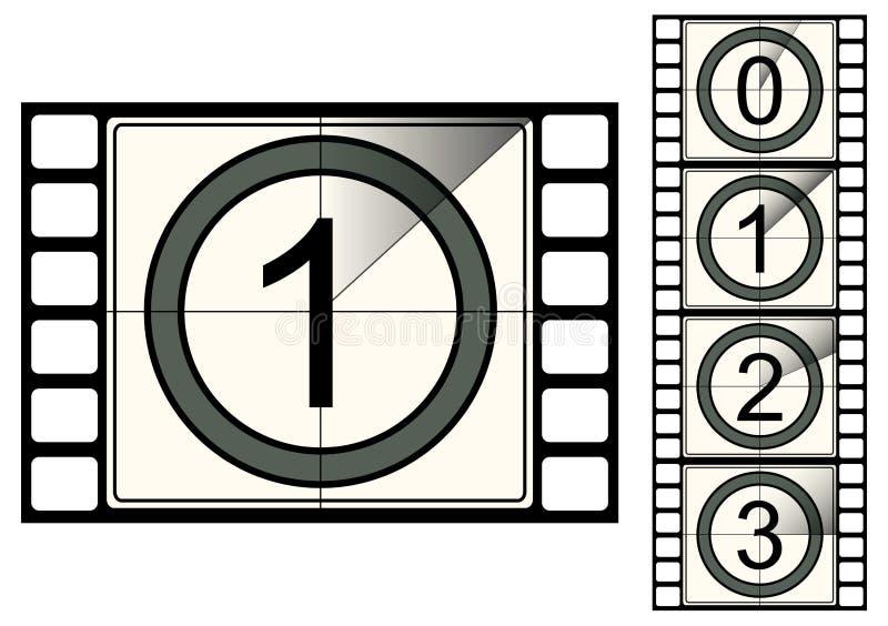 countdown film strip ελεύθερη απεικόνιση δικαιώματος