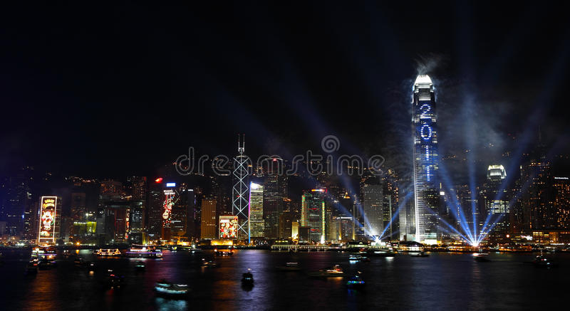 Download Countdown Fireworks Show In Hong Kong Editorial Stock Image - Image: 17621784