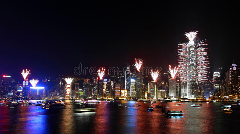 Download Countdown Fireworks Show In Hong Kong Editorial Photo - Image: 17621786