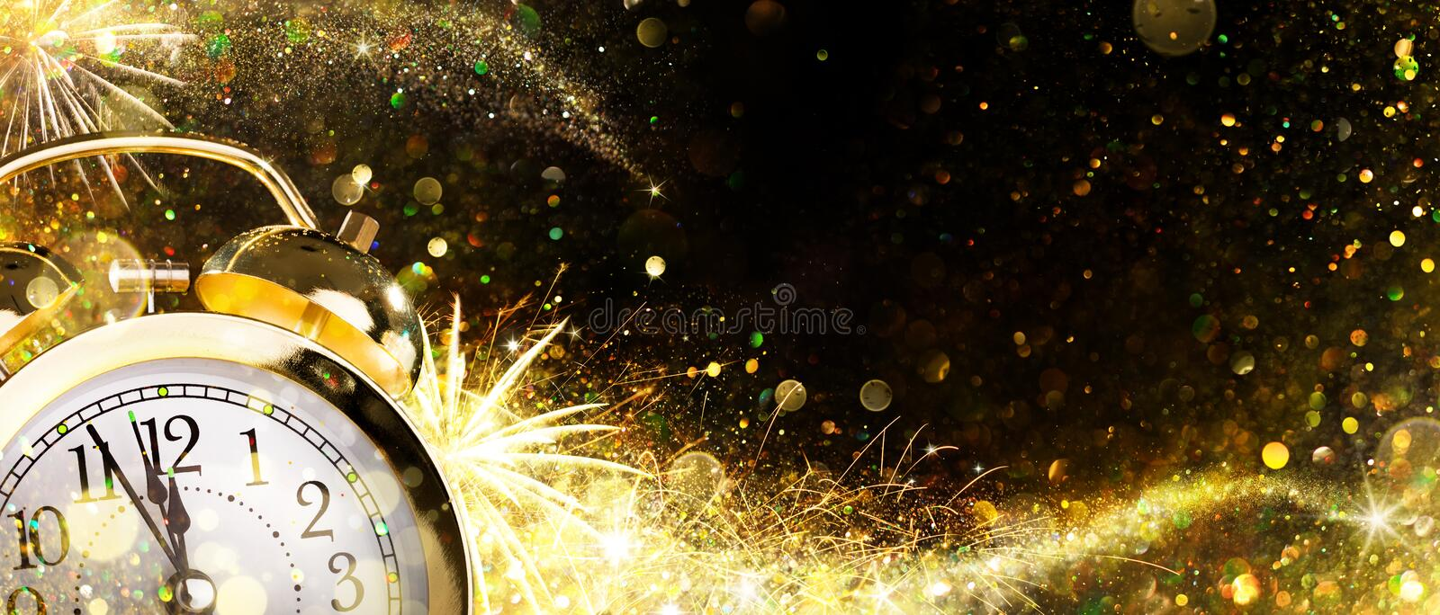 Countdown For New Year - Alarm Clock royalty free stock photography