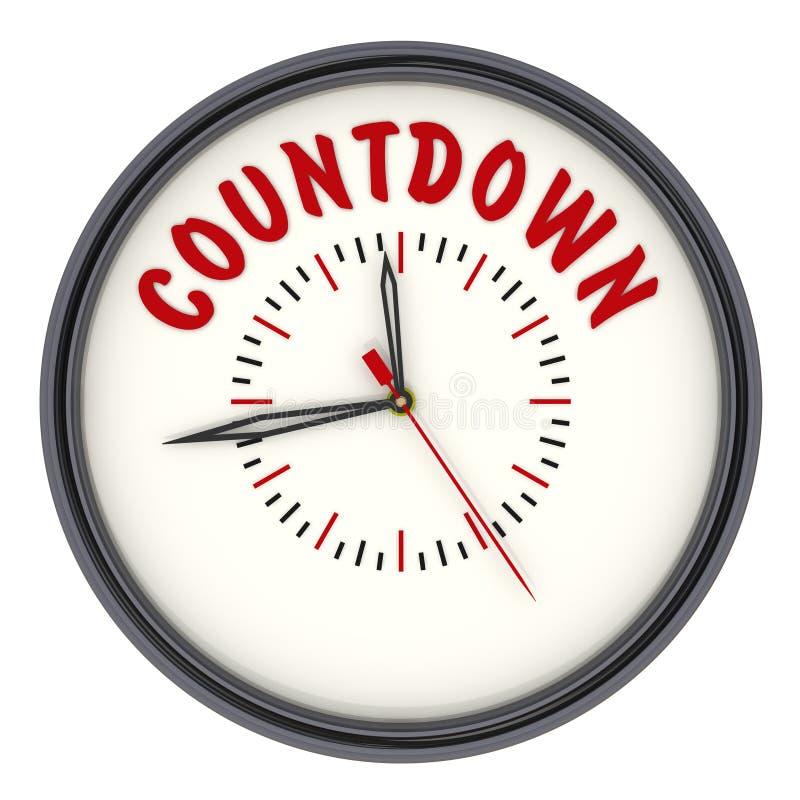 countdown Pulso de disparo com texto ilustração royalty free