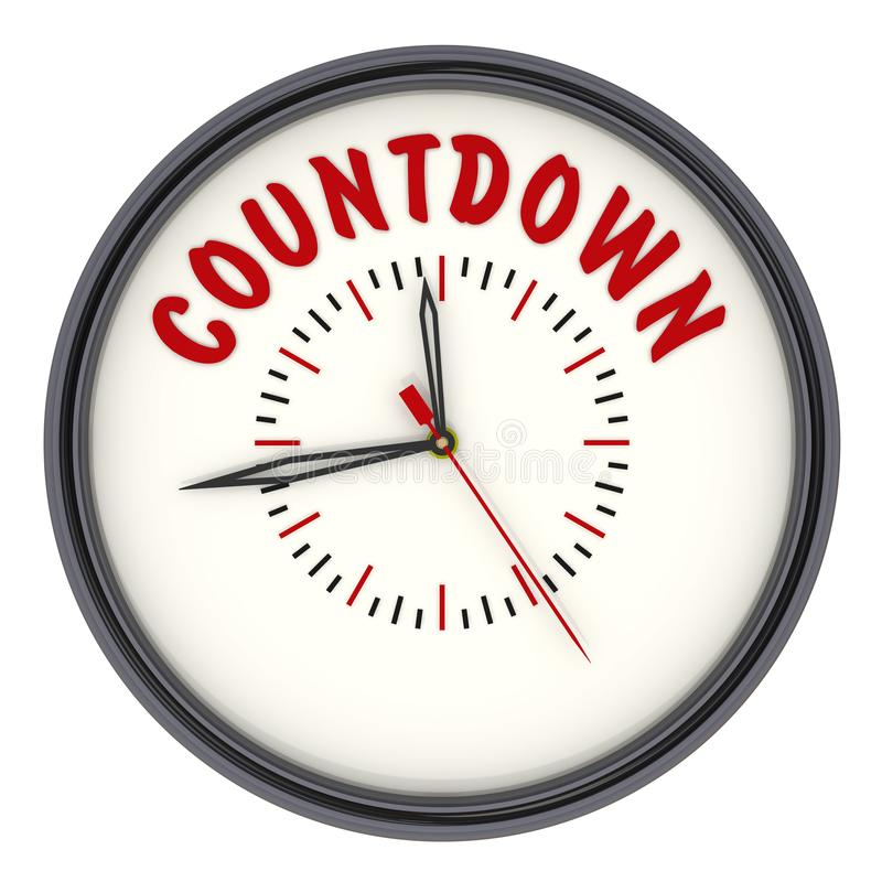 countdown Reloj con el texto libre illustration