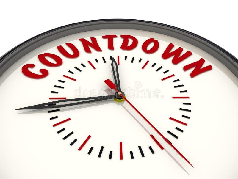 countdown Reloj con el texto ilustración del vector
