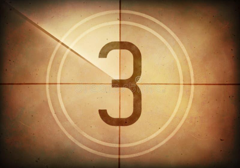 Download Countdown Three stock illustration. Illustration of cinema - 41600035