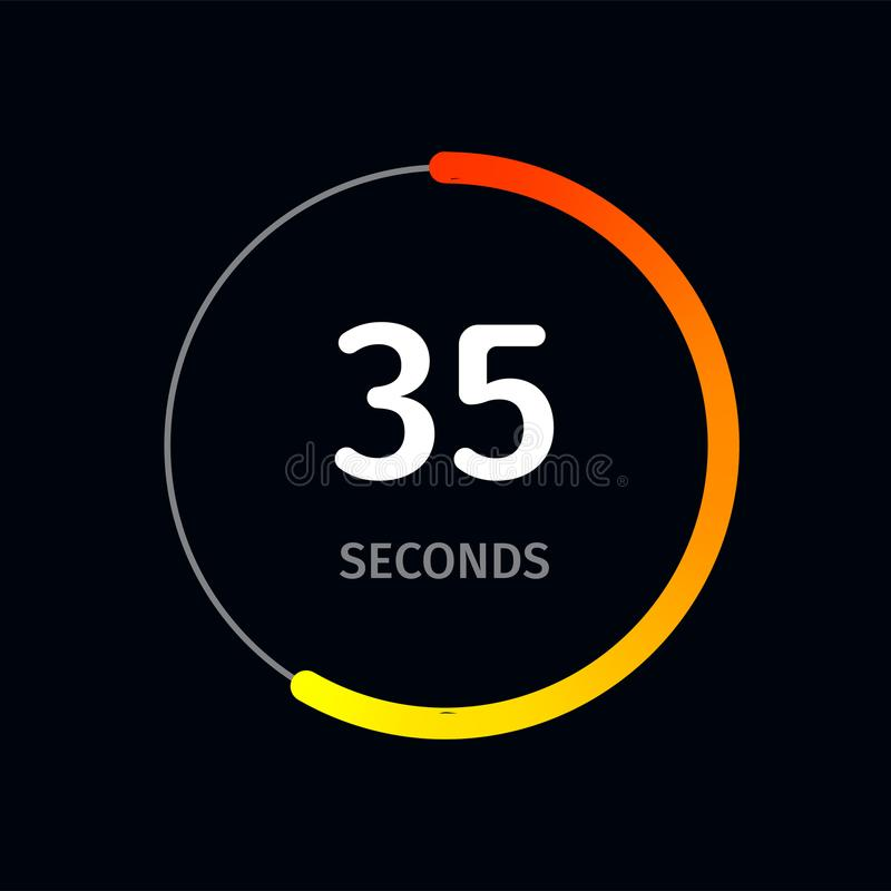 Countdown Timer Or Digital Counter Clock Vector Flat Circle Icon For