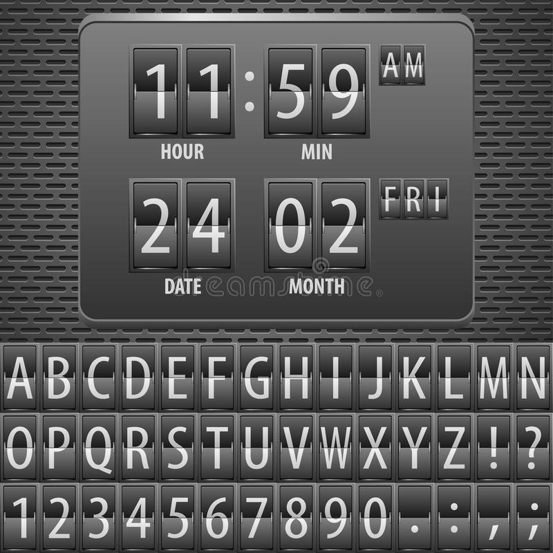 Download Countdown Timer On The Mechanical Timetable Stock Vector - Image: 23500521