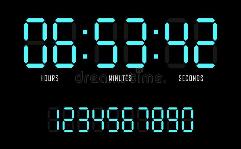Countdown website vector flat template digital clock timer background stock photos