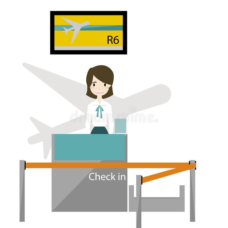 Counter Check- in with staff vecto royalty free stock photos