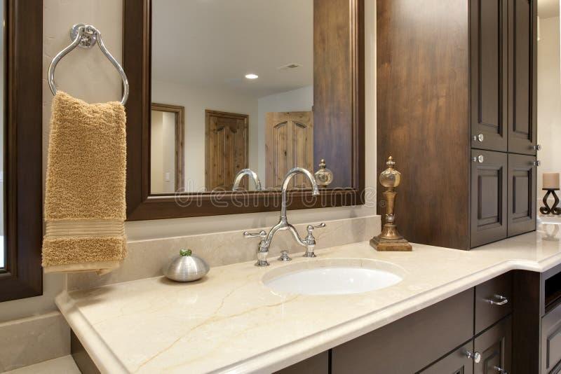 counter detalj för badrum arkivfoto