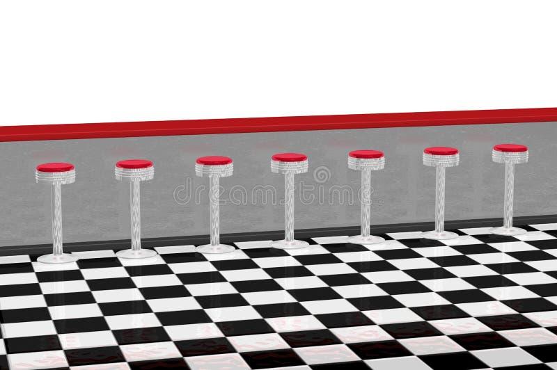 counter diner restaurant απεικόνιση αποθεμάτων