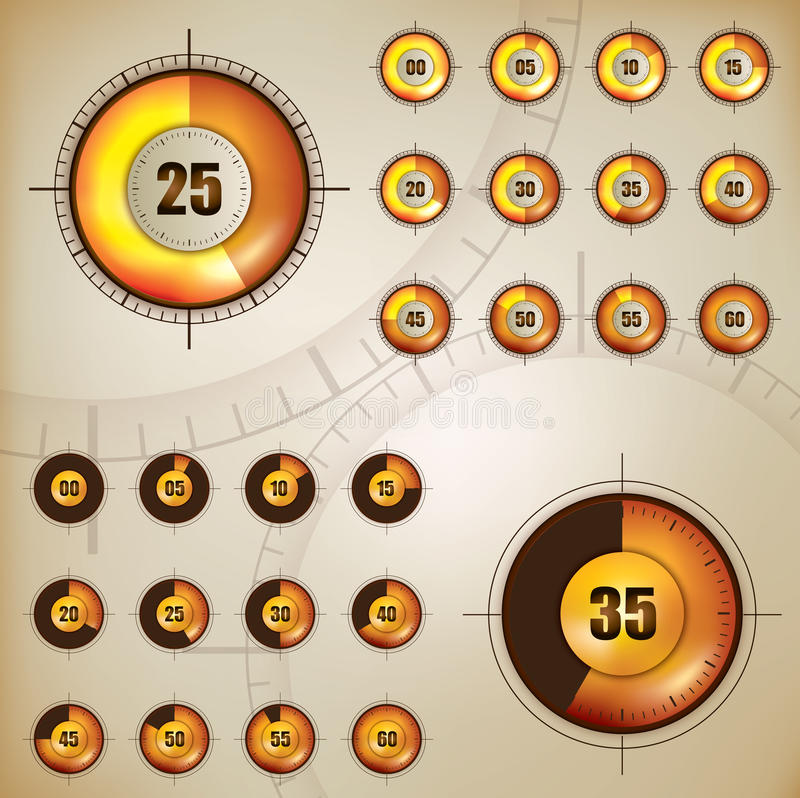 Download Counter Display stock vector. Illustration of chronometer - 22989121