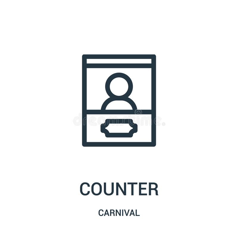 counter icon vector from carnival collection. Thin line counter outline icon vector illustration vector illustration