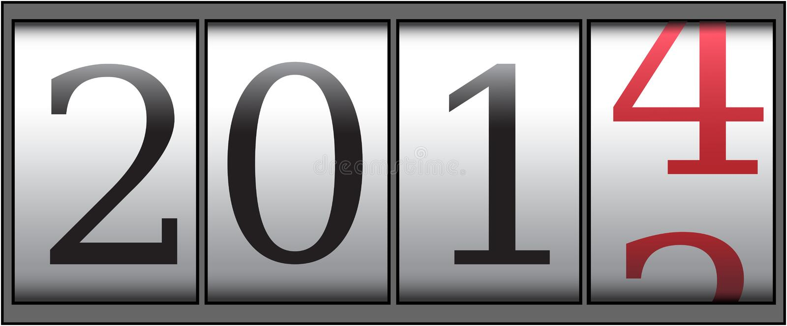 Counter 2014 royalty free stock photo