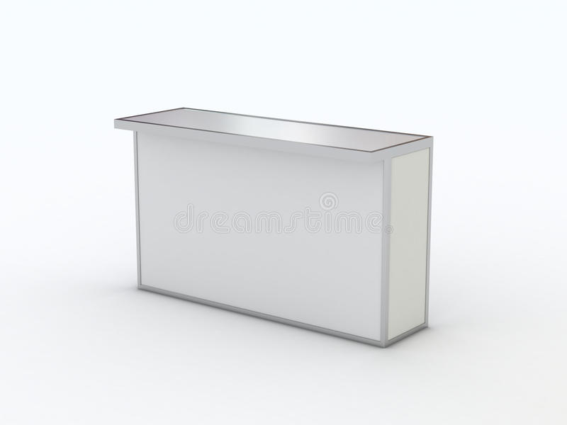 Counter And Reception Or Bar Furniture Piece. Stock Photography