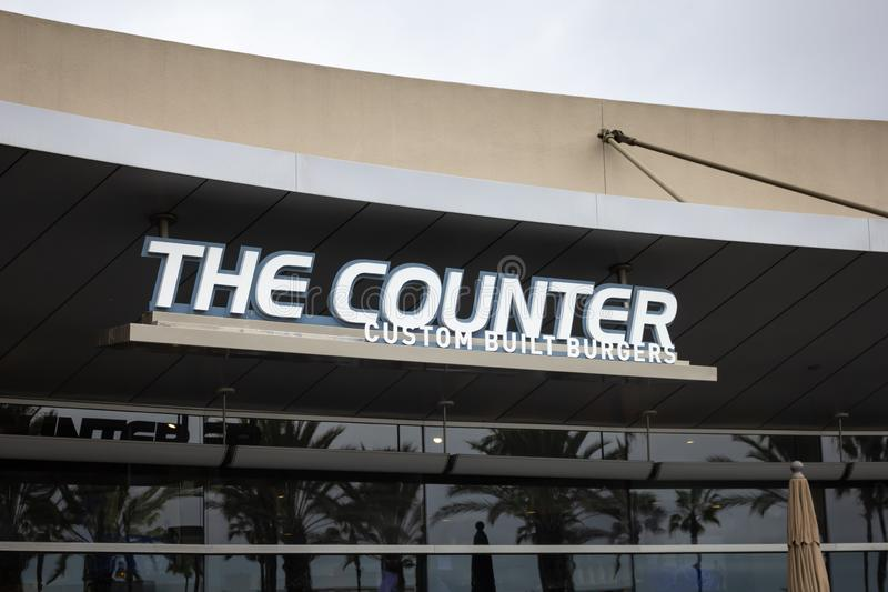 The Counter restaurant sign royalty free stock photography