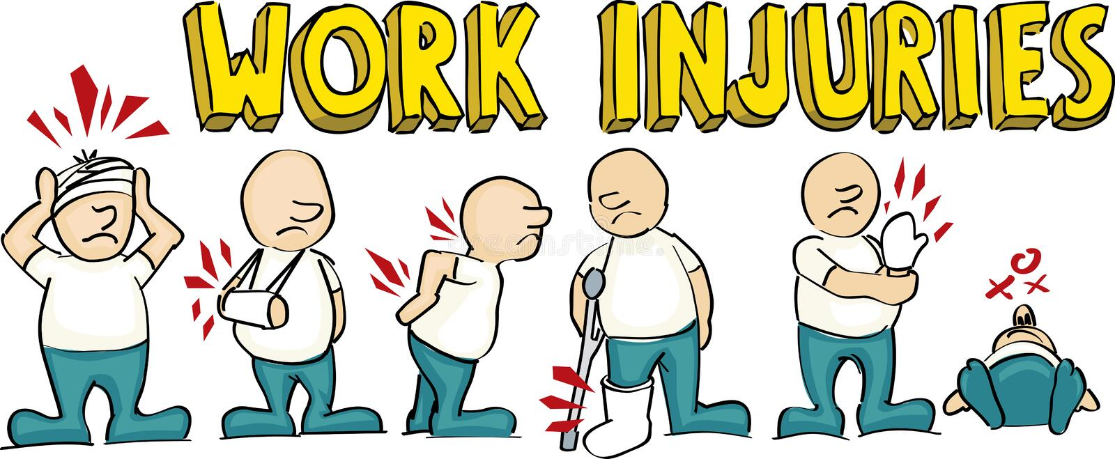 Work injuries royalty free illustration