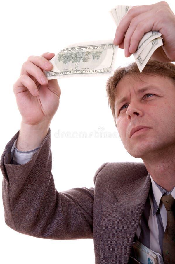 counterfeit счета стоковая фотография rf