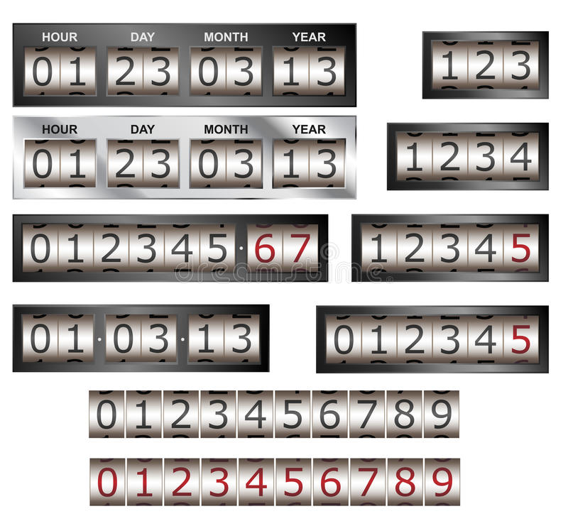 Download Counters stock vector. Illustration of number, gauge - 28437483