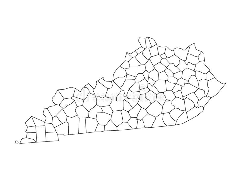 Counties Map of US State of Kentucky. Vector illustration of the Counties Map of US State of Kentucky vector illustration