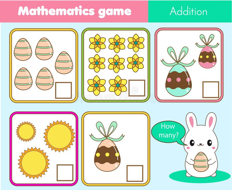Addition Worksheets easter addition worksheets : Counting Educational Children Game, Math Kids Activity. How Many ...
