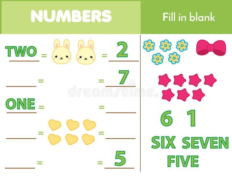 Counting Educational Children Game Math Kids Activity How Many