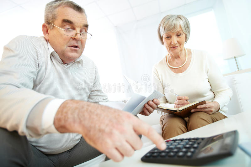 Counting expenses royalty free stock photo