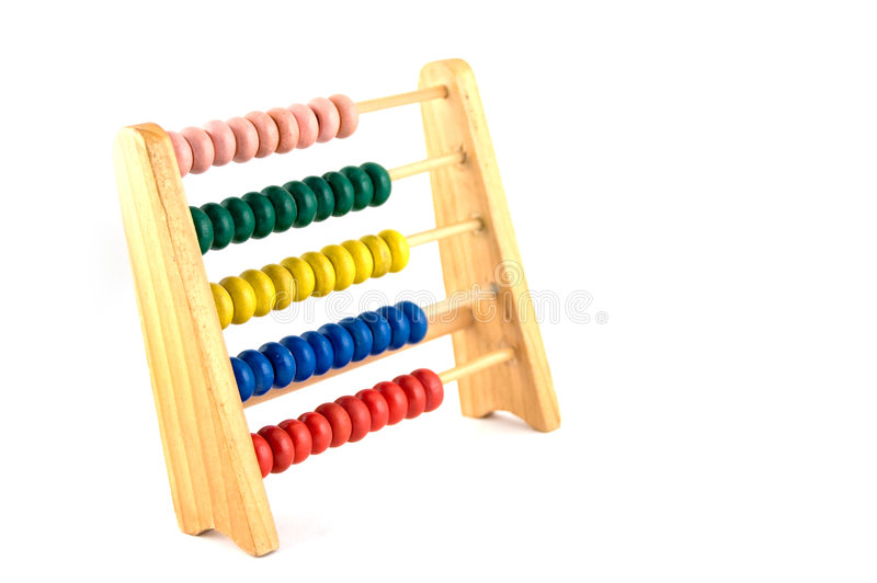 Counting frame. Colourfull counting frame to learn to count royalty free stock image