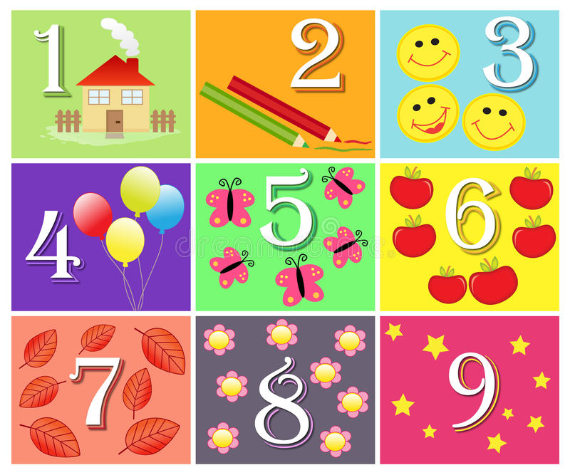 Counting game stock illustration
