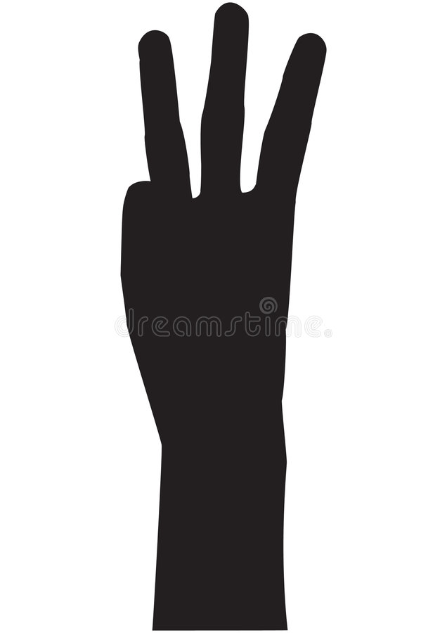Counting Hand - Three Royalty Free Stock Images