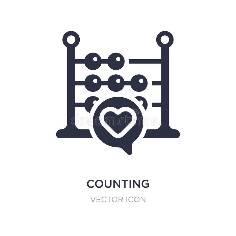 counting icon on white background. Simple element illustration from Blogger and influencer concept royalty free illustration
