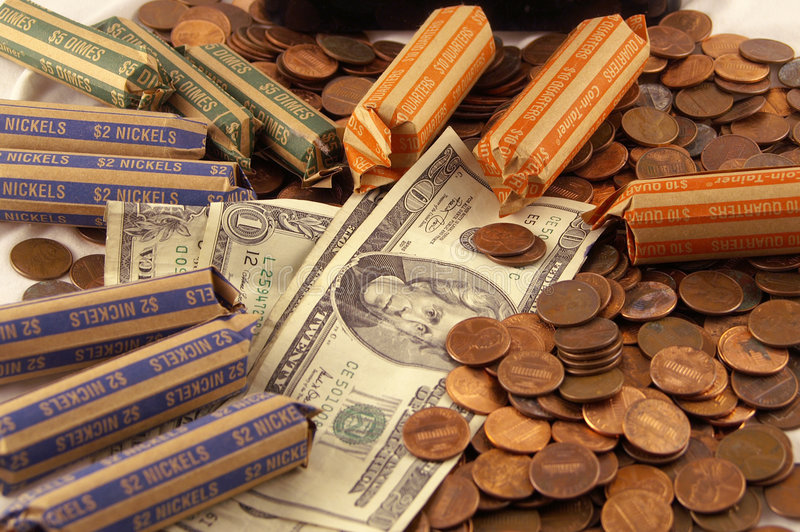 Download Counting money stock photo. Image of change, dimes, dollars - 2012226