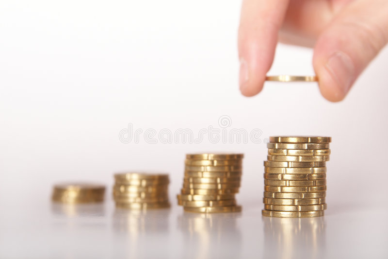 Counting my last money stock images