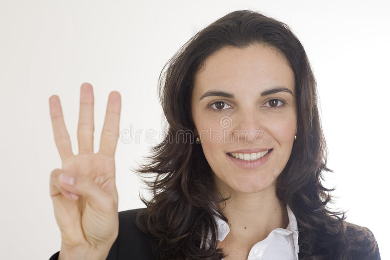 Download Counting number 3 stock image. Image of hand, count, fist - 12609239