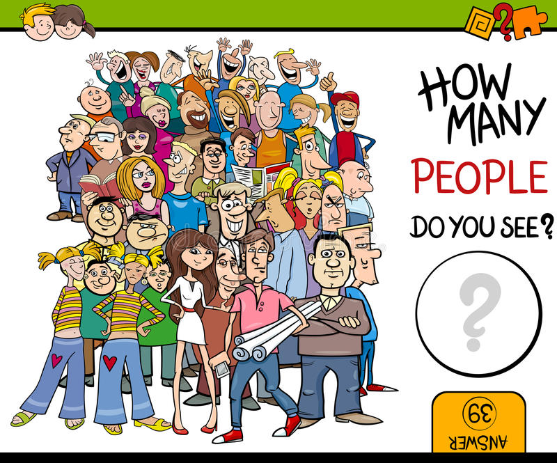 Counting people activity vector illustration