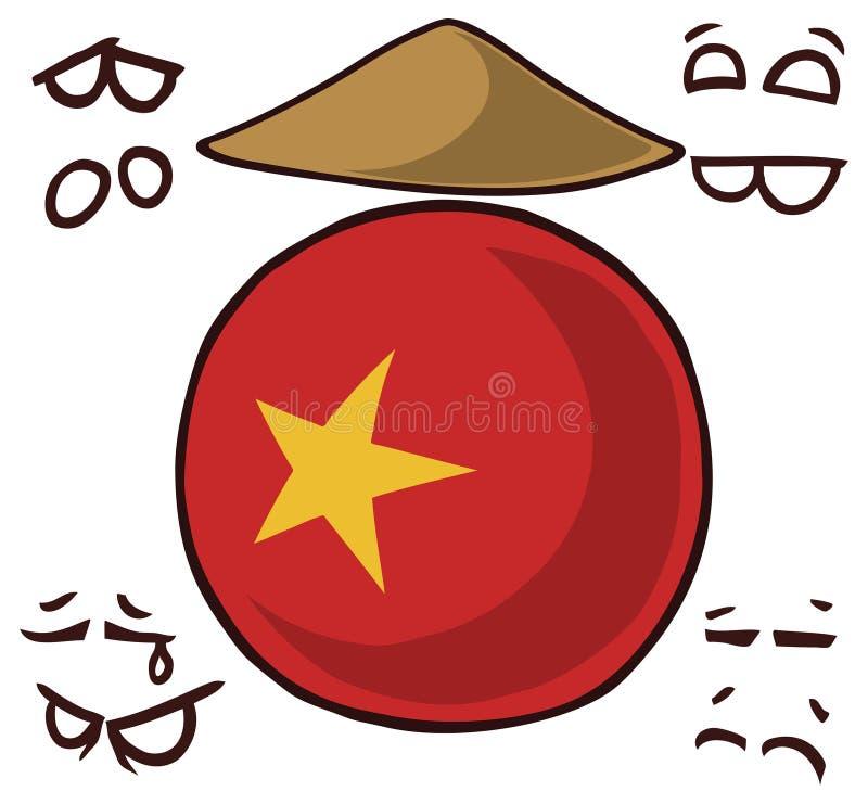 Country ball vietnam royalty free illustration