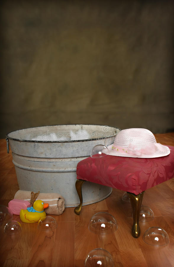 Country Bath Time royalty free stock photos