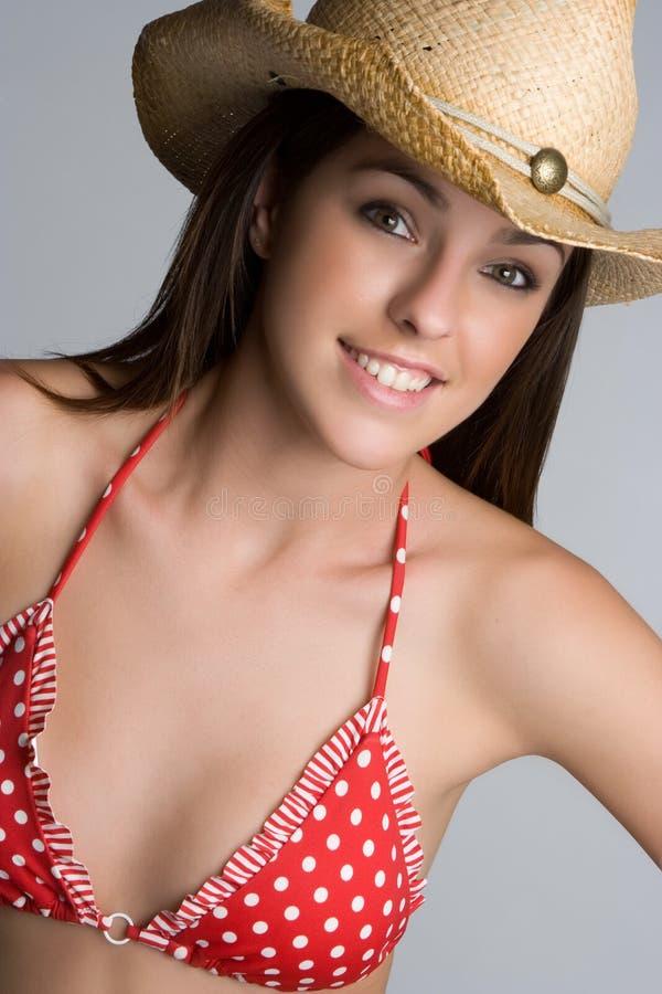 Country Bikini Girl royalty free stock photo
