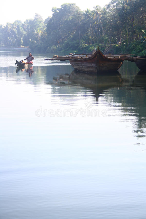Country Boats Of Kerala Editorial Photography