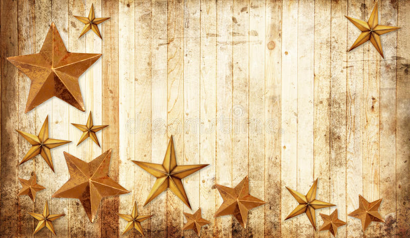 Country Christmas stars stock images