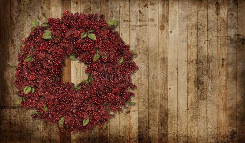 Country Christmas Wreath Royalty Free Stock Photo