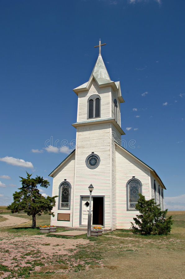 Country Church. Small country church out on the prairie in South Dakota royalty free stock photos