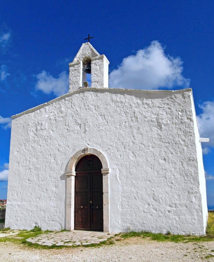 Country church. Monopoli. Apulia. royalty free stock photo