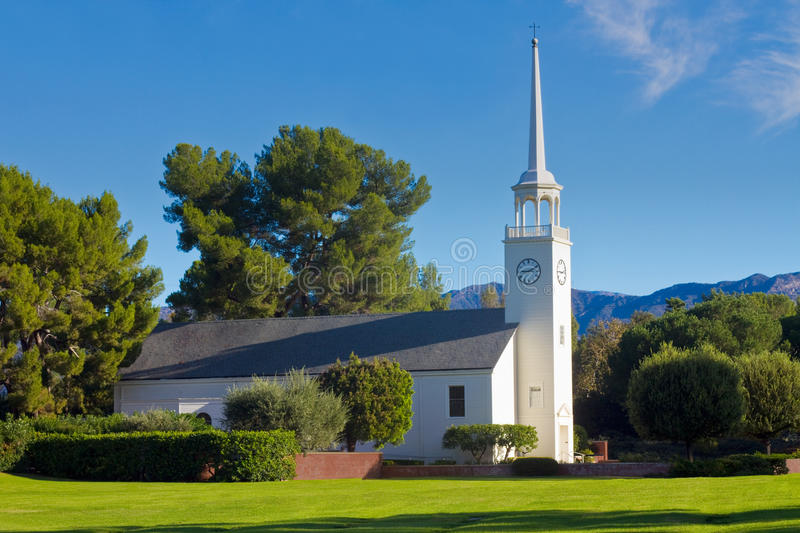 Download Country Church In Morning Light With Blue Sky Stock Photo - Image: 16908468
