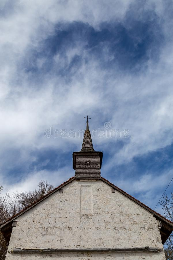 Free Country Church With Blue Sky Stock Images - 115075634