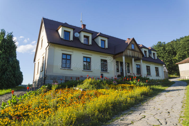 Country cottage as a small Manor House royalty free stock image
