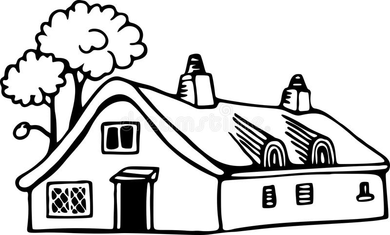 Download Country Cottage stock vector. Image of illustration, architecture - 30489696
